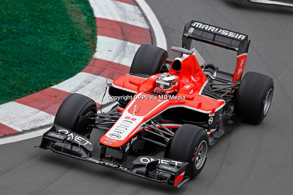 MOTORSPORT - F1 2013 - GRAND PRIX OF CANADA - MONTREAL (CAN) - 07 TO 09/06/2013 - PHOTO FRANCOIS FLAMAND / DPPI - BIANCHI JULES (FRA) - MARUSSIA MR02 - ACTION