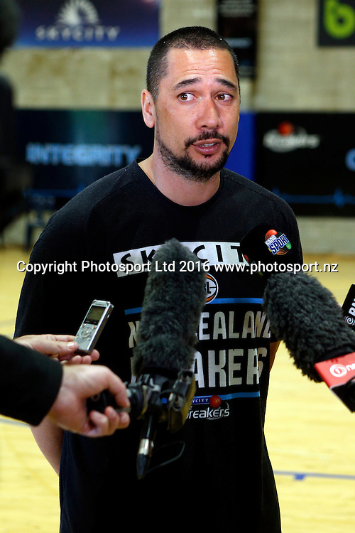 Coach Paul Henare, Breakers media and training session. Breakers Gym, Auckland. 1 December 2016. Copyright Image: William Booth / www.photosport.nz