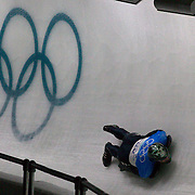 Winter Olympics, Vancouver, 2010.Patrick Shannon, Ireland, in action during Skeleton training at the Whistler Sliding Centre, Whistler, during the Vancouver  Winter Olympics. 16th February 2010. Photo Tim Clayton