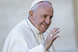 November 12, 2016 - Vatican City, Vatican - Pope Francis greets the faithful as he leaves at the end of an extraordinary Jubilee Audience as part of ongoing celebrations of the Holy Year of Mercy in St. Peter's Square in Vatican City, Vatican on November 12, 2016. Pope Francis presided over the last special audience for the Jubilee of Mercy this morning, during which he called on Christians to witness to Gods mercy by being inclusive. (Credit Image: © Giuseppe Ciccia/NurPhoto via ZUMA Press)