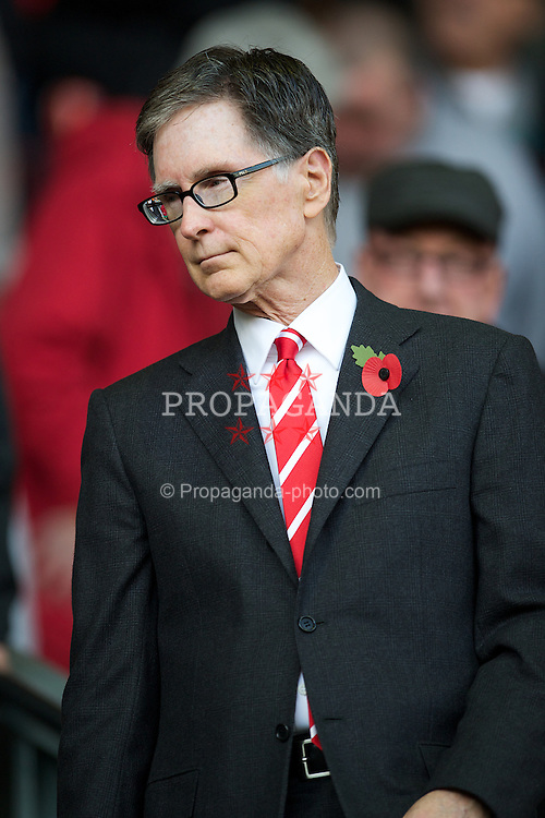 LIVERPOOL, ENGLAND - Saturday, November 5, 2011: Liverpool FC owner John W. Henry during the Premiership match against Swansea City at Anfield. (Pic by David Rawcliffe/Propaganda)