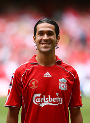CARDIFF, WALES - SUNDAY, AUGUST 13th, 2006: Liverpool's Luis Garcia lines-up to face Chelsea before the Community Shield match at the Millennium Stadium. (Pic by David Rawcliffe/Propaganda)