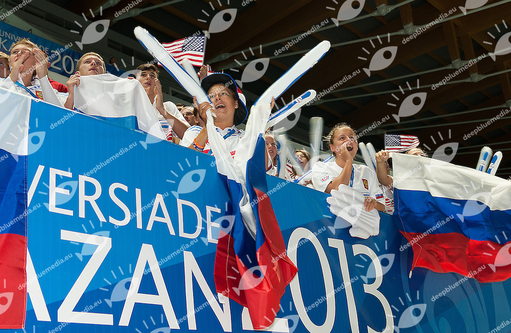Russian supporters<br /> 27th Summer Universiade <br /> 5 - 17 July 2013 Kazan Tatarstan Russia<br /> Day 08 Swimming finals<br /> Photo G. Scala/Insidefoto/Deepbluemedia.eu