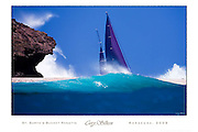"TO BUY: Click Add to Cart above. ""St. Barth's Bucket Regatta - Baracuda 2009"" yacht poster by photographer Cory Silken. SIZE: 17""x25"" or 24""x36"" NOTE: The copyright watermark only appears online and is NOT printed."