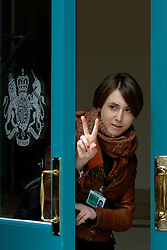 10/05/2010 A Whitehall aide signals to the press that the talks being held between the Liberal Democrats and the Conservatives in forming a coalition Government are coming to an end.