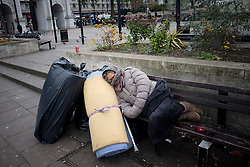 "Romanian beggars, estimated 50-100 people sleep out in smaller groups around Marble Arch in London. Tens of thousands of people from Romania are expected to try to come to Britain once controls are lifted in January. Under ""transitional"" rules introduced when Romania and Bulgaria joined the EU in 2007, migrants from these two countries can only work in the UK in seasonal jobs. These restrictions end on January 1, 2014, and all Romanians and Bulgarians will then have the same rights to work in the UK as British citizens. Marble Arch, London, United Kingdom. Sunday, 1st December 2013. Picture by Peter Kollanyi / i-Images<br />