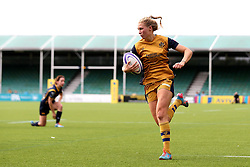 Lottie Holland of Bristol Ladies runs in another try for her side against Worcester Valkyries - Mandatory by-line: Robbie Stephenson/JMP - 24/09/2016 - RUGBY - Sixways - Worcester, England - Worcester Valkyries v Bristol Ladies Rugby - RFU Women's Premiership