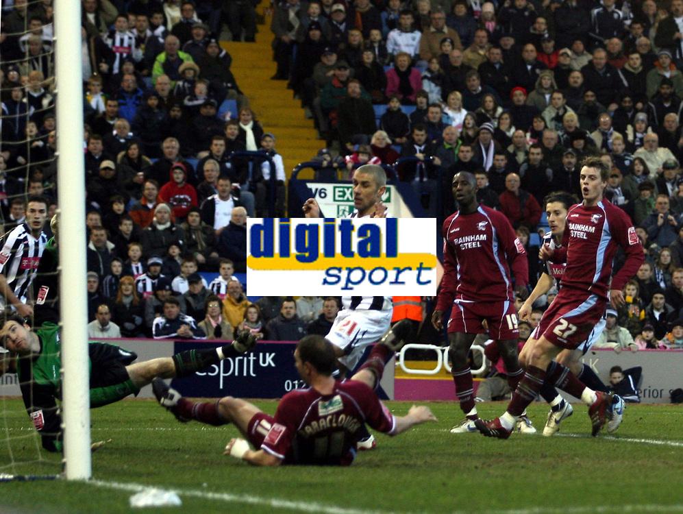 Photo: Mark Stephenson/Sportsbeat Images.<br /> West Bromwich Albion v Scunthorpe United. Coca Cola Championship. 29/12/2007.West Brom's Robert Koren ( 2ed R ) scores for 2-0