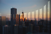 Lake Michigan is reflected in the Chicago Skyline.<br /> <br /> Photo by Alyssa Schukar