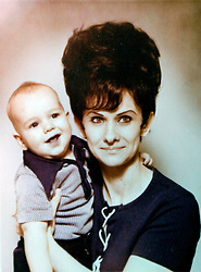 19 Jan,2006. Collect photograph.  Marshall Bruce Mathers III, aka Eminem in a 1970's photograph when Eminem was just 11 months old pictured with his maternal grandmother Betty Kresin.  <br /> Photo Credit: Kresin via  www.varleypix.com