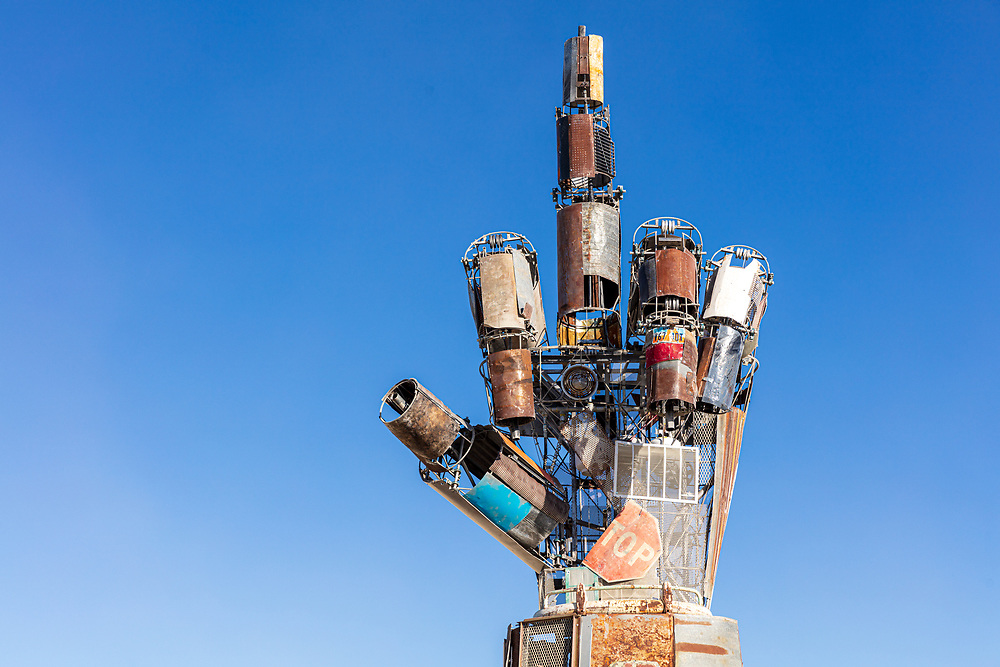 I.L.Y.<br /> by: Dan Mountain<br /> from: Portola Valley, CA<br /> year: 2019<br /> <br /> A 27 foot forearm and hand, fabricated from engineered steel, recycled and repurposed scrap metal meant to engage participants in various visual, physical, and emotional ways. Housing an internal armature of chains, gears, sprockets, and springs, the involvement of participants allows the fingers and parts of the hand to bring the sculpture to its full realization.<br /> <br /> The intention of ILY is to encourage communication, collaboration, and eagerness to work together.<br /> <br /> Contact: ilyproject2019@gmail.com<br /> <br /> https://burningman.org/event/brc/2019-art-installations/?yyyy=&artType=H#a2I0V000001AVqhUAG My Burning Man 2019 Photos:<br /> https://Duncan.co/Burning-Man-2019<br /> <br /> My Burning Man 2018 Photos:<br /> https://Duncan.co/Burning-Man-2018<br /> <br /> My Burning Man 2017 Photos:<br /> https://Duncan.co/Burning-Man-2017<br /> <br /> My Burning Man 2016 Photos:<br /> https://Duncan.co/Burning-Man-2016<br /> <br /> My Burning Man 2015 Photos:<br /> https://Duncan.co/Burning-Man-2015<br /> <br /> My Burning Man 2014 Photos:<br /> https://Duncan.co/Burning-Man-2014<br /> <br /> My Burning Man 2013 Photos:<br /> https://Duncan.co/Burning-Man-2013<br /> <br /> My Burning Man 2012 Photos:<br /> https://Duncan.co/Burning-Man-2012