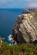 Cliffs at Cabo de São Vicente, Algarve, Portugal