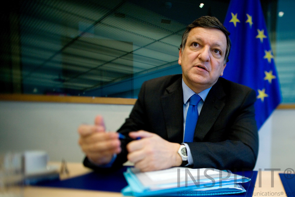 BRUSSELS - BELGIUM - 18 MAY 2009 -- Jose (José) Manuel BARROSO, President of the European Commission, during a interview at Breydel the old HQ of the EC.  Photo: Erik Luntang