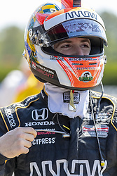 April 21, 2018 - Birmingham, Alabama, United States of America - JAMES HINCHCLIFFE (5) of Canada waits for a practice session for the Honda Indy Grand Prix of Alabama at Barber Motorsports Park in Birmingham Alabama. (Credit Image: © Walter G Arce Sr Asp Inc/ASP via ZUMA Wire)
