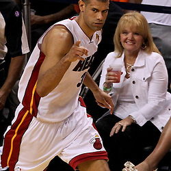 Jun 21, 2012; Miami, FL, USA; Miami Heat small forward Shane Battier (31) against the Oklahoma City Thunder during the third quarter in game five in the 2012 NBA Finals at the American Airlines Arena. Mandatory Credit: Derick E. Hingle-US PRESSWIRE