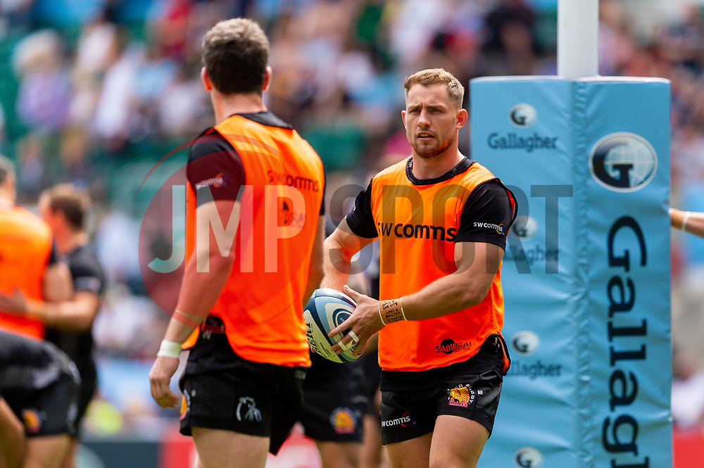 Sam Hill of Exeter Chiefs  - Mandatory by-line: Ryan Hiscott/JMP - 01/06/2019 - RUGBY - Twickenham Stadium - London, England - Exeter Chiefs v Saracens - Gallagher Premiership Rugby Final