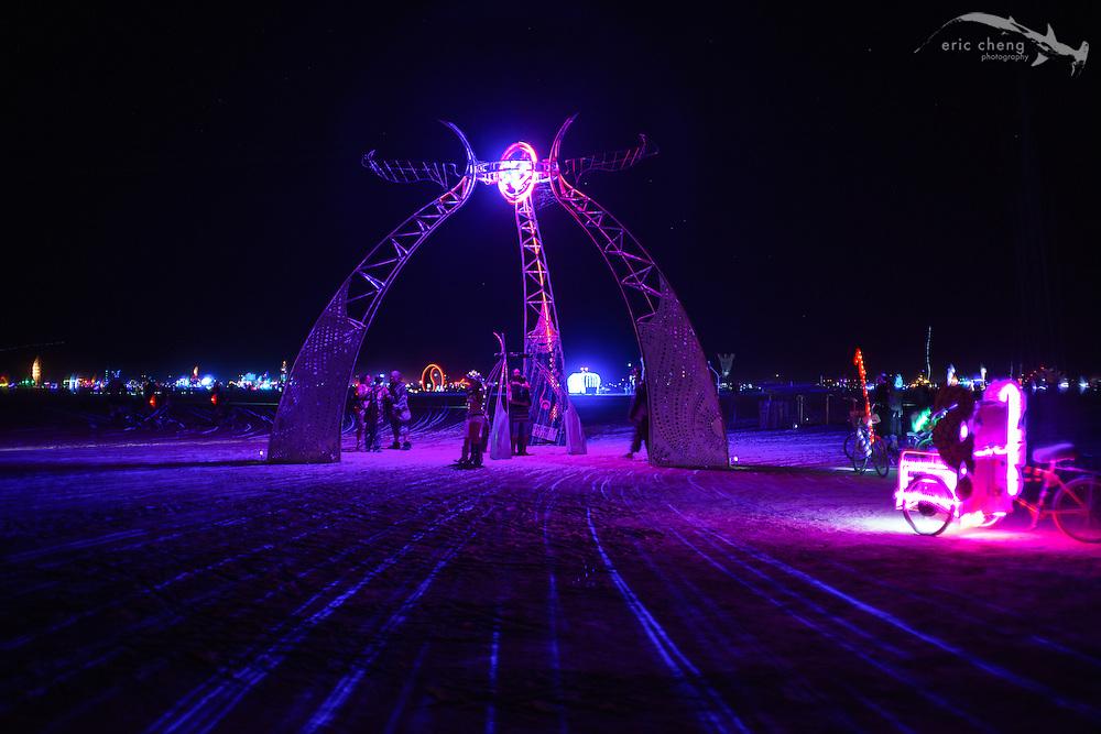 Nexicon Portal, one of my favorite art installations. Burning Man 2014.
