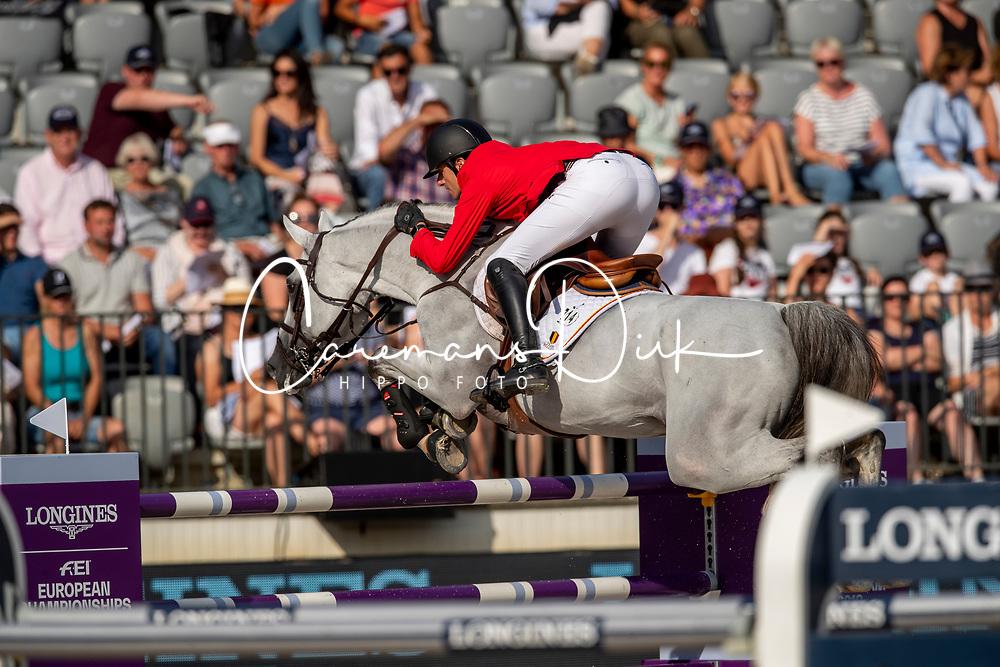 Wathelet Gregory, BEL, MJT Nevado S<br /> European Championship Jumping<br /> Rotterdam 2019<br /> © Dirk Caremans