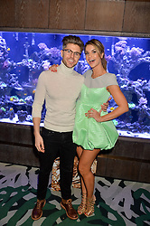 DARREN KENNEDY and VOGUE WILLIAMS at a dinner hosted by Creme de la Mer to celebrate the launch of Genaissance de la Mer The Serum Essence held at Sexy Fish, Berkeley Square, London on 21st January 2016.