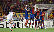 Cristiano Ronaldo takes a free kick during the final of the UEFA football Champions League on May 27, 2009 at the Olympic Stadium in Rome