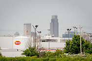 The Tyson Foods plan on Wednesday, June 7, 2017, in Council Bluffs, Iowa. The skyline of Omaha is visible in the background. LCMS Communications/Erik M. Lunsford