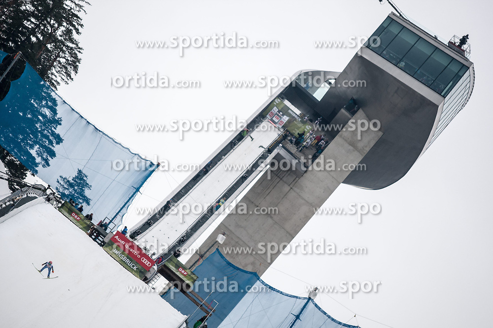03.01.2015, Bergisel Schanze, Innsbruck, AUT, FIS Ski Sprung Weltcup, 63. Vierschanzentournee, Innsbruck, Qalifikations-Sprung, im Bild Dawid Kubacki (POL) // Dawid Kubacki of Poland // soars through the air during his qualification jump for the 63rd Four Hills Tournament of FIS Ski Jumping World Cup at the Bergisel Schanze in Innsbruck, Austria on 2015/01/03. EXPA Pictures © 2015, PhotoCredit: EXPA/ Jakob Gruber