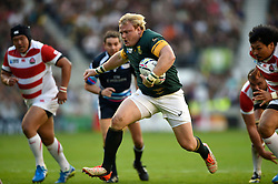 Adriaan Strauss of South Africa runs in a try - Mandatory byline: Patrick Khachfe/JMP - 07966 386802 - 19/09/2015 - RUGBY UNION - Brighton Community Stadium - Brighton, England - South Africa v Japan - Rugby World Cup 2015 Pool B.