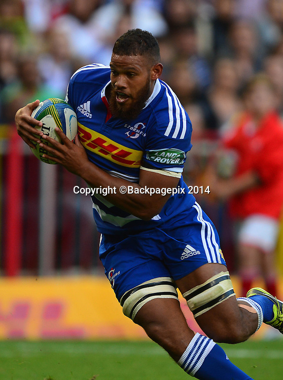 Nizaam Carr of The Stormers during the 2014 Super Rugby Match between The Stormers and The Lions at Newlands Stadium, Cape Town on 19 April 2014 ©Chris Ricco/BackpagePix