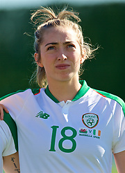 MARBELLA, SPAIN - Thursday, February 28, 2019: Republic of Ireland's Megan Connolly lines-up before an international friendly match between Wales and Republic of Ireland at the Marbella Football Centre. (Pic by David Rawcliffe/Propaganda)