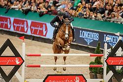 WULSCHNER Benjamin (GER), Bangkok Girl PP<br /> Leipzig - Partner Pferd 2020<br /> Glas Strack Speed Cup<br /> Zeitspringprfg., international<br /> Höhe: 1.45 m<br /> 18. Januar 2020<br /> © www.sportfotos-lafrentz.de/Stefan Lafrentz