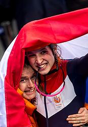 22-02-2018 KOR: Olympic Games day 13, PyeongChang<br /> Short Track Speedskating / Shorttrackster Suzanne Schulting heeft dankzij een magistrale finale de olympische titel veroverd op de 1.000 meter. Yara Van Kerkhof of the Netherlands