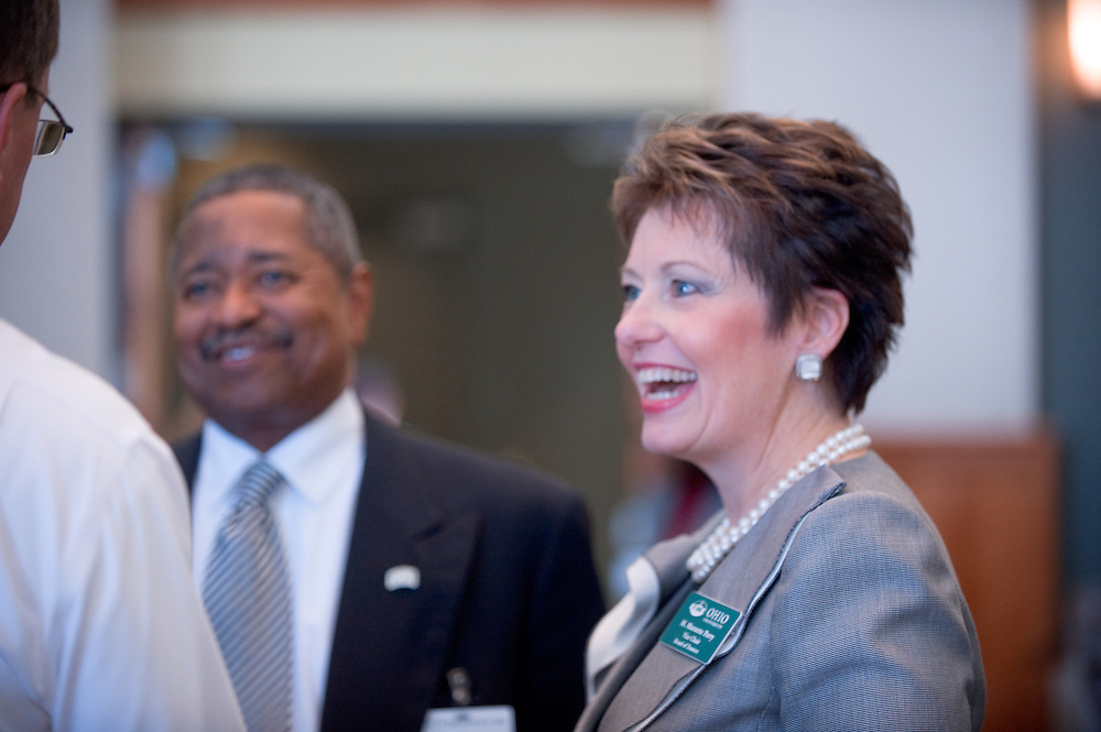 19105?Kroger Day? lunch at Walter Hall with Keynote address by M. Marnette Perry, Vice Chair, Board of Trustees...Dr. McDavis and M. Marnette Perry, Vice Chair, Board of Trustees
