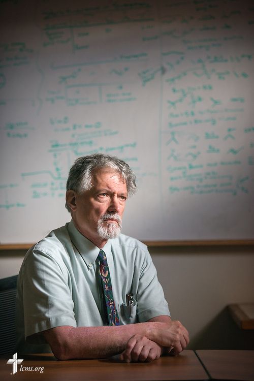 Portrait of Dr. E. Christian Kopff, associate professor of Classics at the University of Colorado, Boulder, on Wednesday, July 22, 2015, in Boulder, Colo. LCMS Communications/Erik M. Lunsford
