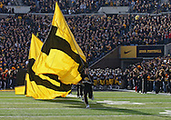 November 12, 2011: The Iowa Hawkeyes take the field before the start of the NCAA football game between the Michigan State Spartans and the Iowa Hawkeyes at Kinnick Stadium in Iowa City, Iowa on Saturday, November 12, 2011. Michigan State defeated Iowa 37-21.