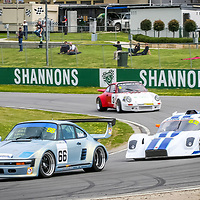 Shaun Walker (Porsche 930S) leads Peter McKenzie (Ultra Sports) and Walter Epple (Porsche 911 Carrera RS) at the WA Sporting Car Clubs 2005 WA State Championship meeting.