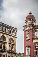 Beautiful old colonial buildings in Yangon, Burma