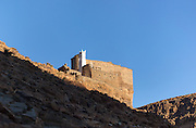AMTOUDI, MOROCCO - JUNE 2ND 2016 - Panoramic of the Amtoudi Granary (Agadir Id Aissa), Guelmim province of Southern Morocco.
