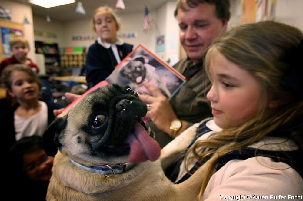 Elli Rose Focht brought her Pug to school for show and tell.