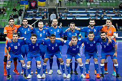 National team Azerbaijan during futsal match between National teams of Ukraine and Portugal at Day 6 of UEFA Futsal EURO 2018, on February 4, 2018 in Arena Stozice, Ljubljana, Slovenia. Photo by Urban Urbanc / Sportida