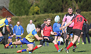 Stobswell Rugby Club (yellow) clinched the BT Caledonian League 4th division championship by beating Glenrothes (red) 32-13 at Downfield on Saturday<br /> <br />  - &copy; David Young - www.davidyoungphoto.co.uk - email: davidyoungphoto@gmail.com