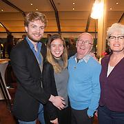 """NLD/Bloemendaal/20151124 - Boekpresentatie """"Buch"""" over het leven van Menno Buch, Harry Slinger, partner Marijke van der Pol en zoon Bram en partner"""