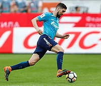 MOSCOW, RUSSIA - MAY 05: Miha Mevlja of FC Zenit Saint Petersburg in action during the Russian Football League match between FC Lokomotiv Moscow and FC Zenit Saint Petersburg at RZD Arena on May 5, 2018 in Moscow, Russia.