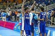 ATENE,  27 AGOSTO 2004<br /> OLIMPIADI ATENE 2004<br /> BASKET, SEMIFINALE<br /> ITALIA - LITUANIA<br /> NELLA FOTO: GIANMARCO POZZECCO<br /> FOTO CIAMILLO