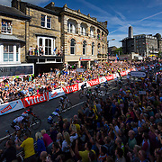 The finish of the Tour de France Harrogate stage.