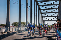 Grupetto with BOBRIDGE Jack from Australia of Trek - Segafredo (USA) at the 2nd lap (1000M) from the finish line on the John Frost Bridge 'A Bridge Too Far', stage 3 from Nijmegen to Arnhem running 190 km of the 99th Giro d'Italia (UCI WorldTour), The Netherlands, 8 May 2016. Photo by Pim Nijland / PelotonPhotos.com | All photos usage must carry mandatory copyright credit (Peloton Photos | Pim Nijland)