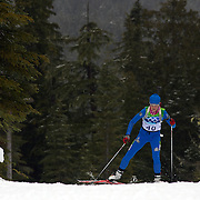 Winter Olympics, Vancouver, 2010. Panagiota Tsakiri, Greece, in action during the Women's 7.5 KM Sprint Biathlon at The Whistler Olympic Park, Whistler, during the Vancouver  Winter Olympics. 13th February 2010. Photo Tim Clayton