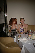 Lily Cole and  Jade Parfitt.  Natalia Vodianova and Elle Macpherson host a dinner in honor of Francisco Costa (creative Director for women) and Italo Zucchelli (creative director for men)  of Calvin Klein. Locanda Locatelli, 8 Seymour St. London W1. ONE TIME USE ONLY - DO NOT ARCHIVE  © Copyright Photograph by Dafydd Jones 66 Stockwell Park Rd. London SW9 0DA Tel 020 7733 0108 www.dafjones.com