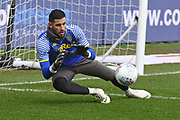 Leeds United goalkeeper Kiko Casilla (33) warms up during the EFL Sky Bet Championship match between Bristol City and Leeds United at Ashton Gate, Bristol, England on 9 March 2019.