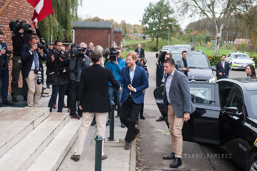 26.10.12017. Copenhagen, Denmark.  <br /> Prince Harry's arrival at the Danish Defence Centre for Military Physical Training as part of his official visit to Copenhagen.<br /> Photo: © Ricardo Ramirez