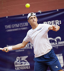 June 17, 2018 - L'Aquila, Italy - Liam Caruana during match between Johannes Haerteis (GER) and Liam Caruana (ITA) during day 2 at the Internazionali di Tennis Citt dell'Aquila (ATP Challenger L'Aquila) in L'Aquila, Italy, on June 17, 2018. (Credit Image: © Manuel Romano/NurPhoto via ZUMA Press)